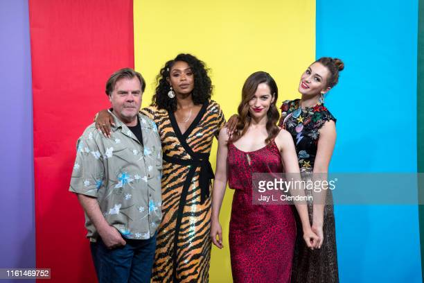 Greg Lawson Chantel Riley Melanie Scrofano and Katherine Barrell of 'Wynonna Earp' are photographed for Los Angeles Times at ComicCon International...