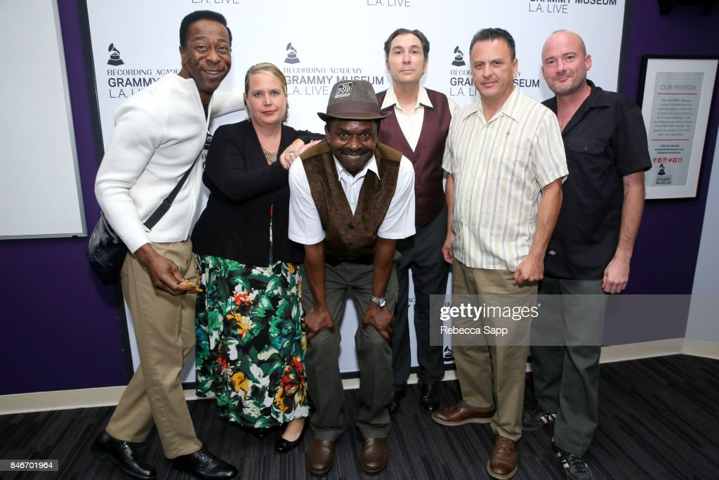Greg Lee, Persephone 'Queen PÓ Laird, Junor Francis, Joey Altruda, Luis Correa and Brian Dixon attend History of LA Ska at The GRAMMY Museum on September 13, 2017 in Los Angeles, California.