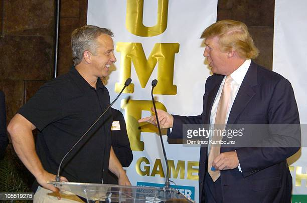 """Greg LeMond and Donald Trump during Parker Brothers and Donald Trump Launch """"Trump: The Game"""" at Trump Tower in New York City, New York, United..."""