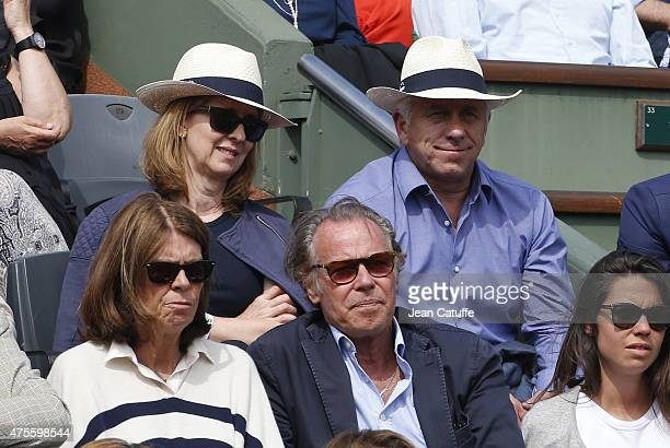 Greg LeMond and his wife Kathy LeMond attend day 9 of the French Open 2015 at Roland Garros stadium on June 1, 2015 in Paris, France.