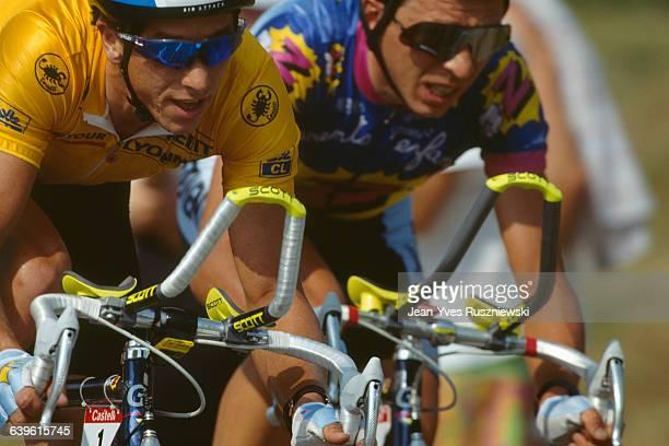 Greg Lemond during a team time trial of the 1991 Tour de France.