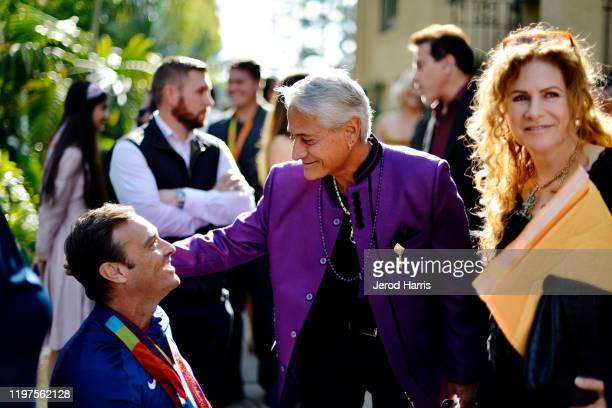 Greg Louganis arrives at the 7th Annual Gold Meets Golden at Virginia Robinson Gardens and Estate on January 04 2020 in Los Angeles California