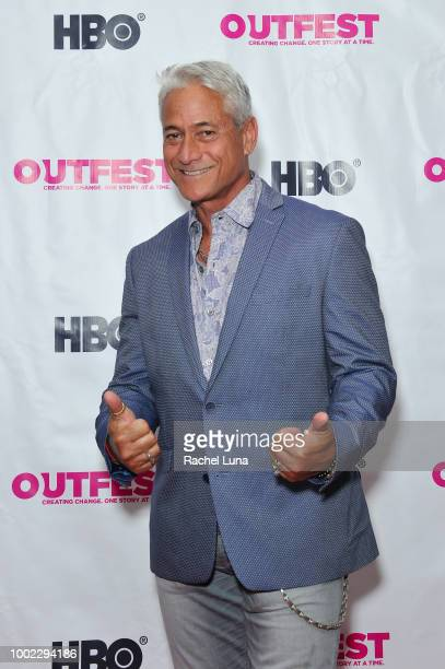 Greg Louganis attends the Outfest World Premiere Of 'A Long Road To Freedom The Advocate Celebrates 50 Years' at Samuel Goldwyn Theater on July 19...