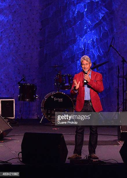 Greg Louganis speaks during the opening ceremony of the Gay Games 2014 at Quicken Loans Arena on August 9 2014 in Cleveland Ohio