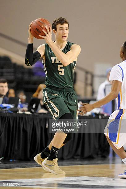 Greg Malinowski of the William Mary Tribe looks to pass the ball during the semifinals of the Colonial Athletic Conference Tournament college...
