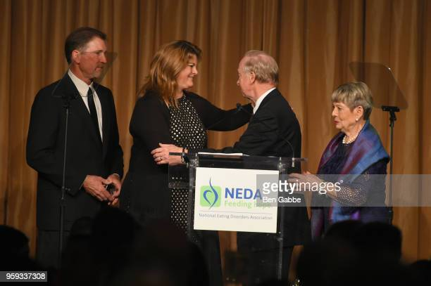 Greg Marjama Kim Marjama Don Nielsen and Melissa Nielsen speak onstage during the National Eating Disorders Association Annual Gala 2018 at The...