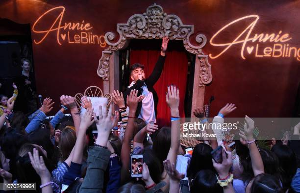 Greg Marks performs at the Annie LeBling presents Annie LeBlanc Performance Pop Up Shop on December 8 2018 in Los Angeles California