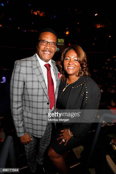 Greg Mathis and Linda Mathis attend the 2014 Congressional Black Caucus Michigan Delegation at Arena Stage on September 26 2014 in Washington DC