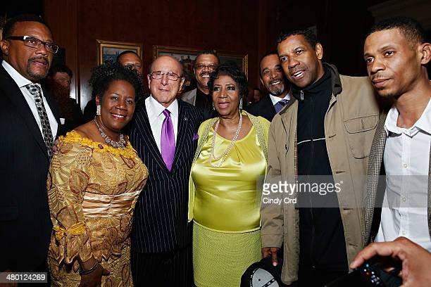 Greg Mathis Sheila Jackson Lee Clive Davis William Wilkerson Aretha Franklin Clifton Davis Denzel Washington and Kecalf Cunningham attend Aretha...