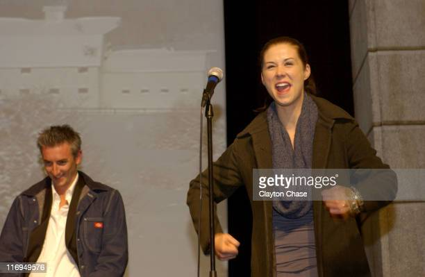 Greg McClean and Kestie Morassi during 2005 Sundance Film Festival 'Wolf Creek' Premiere at Egyptian Theatre in Park City Utah United States