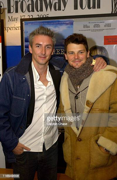 Greg McClean and Nathan Phillips during 2005 Sundance Film Festival 'Wolf Creek' Premiere at Egyptian Theatre in Park City Utah United States