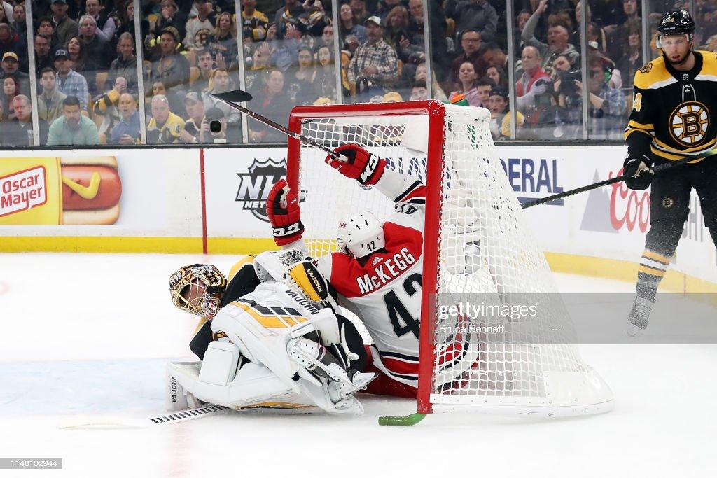 Carolina Hurricanes v Boston Bruins - Game One : News Photo
