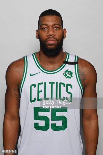 Greg Monroe of the Boston Celtics poses for a head shot on February 14 2018 at the TD Garden in Boston Massachusetts NOTE TO USER User expressly...
