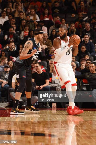 Greg Monroe of the Toronto Raptors handles the ball against Melbourne United during a preseason game on October 5 2018 at the Air Scotiabank Arena in...