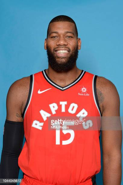 Greg Monroe of the Toronto Raptors poses for a head shot during media day at Scotiabank Arena on September 24 2018 in Toronto Canada NOTE TO USER...
