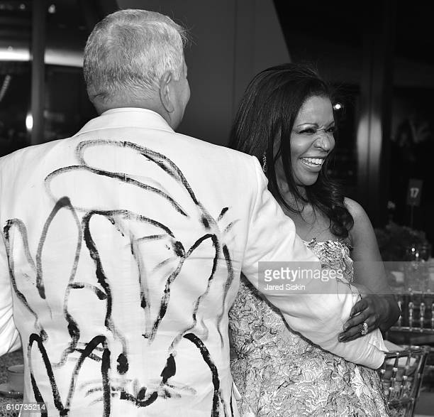 Greg Morey and Pamela Joyner attend Abstracted Black Tie Dinner Hosted by Pamela Joyner Fred Giuffrida and the Ogden Museum of Southern Art to...