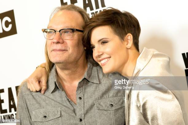 Greg Nicotero and Maggie Grace attend 'The Walking Dead' 'Fear The Walking Dead' Celebrate Survival Sunday on April 15 2018 in Century City California