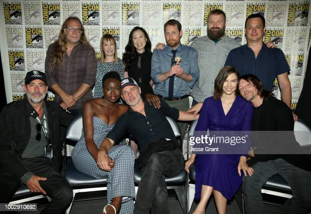 Greg Nicotero Gale Anne Hurd Angela Kang Scott M Gimple Robert Kirkman David Alpert Jeffrey Dean Morgan Danai Gurira Andrew Lincoln Lauren Cohan and...