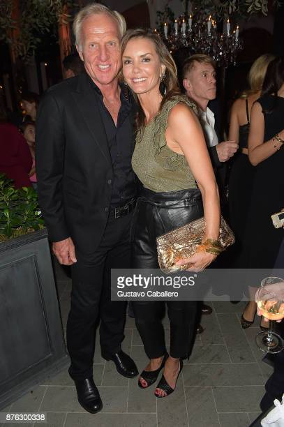 Greg Norman and Kirsten Norman attend the private opening celebration of RH West Palm on November 18, 2017 in West Palm Beach, Florida.