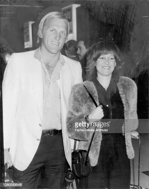 Greg Norman Australia's world match play champion returned to Sydney today with his girl friend Laura Andrassy from Virginia USA October 15 1980