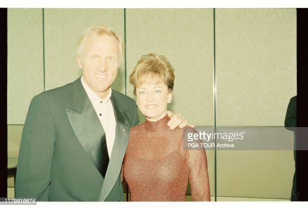 Greg Norman Laura Andrassy Presidents Cup December Royal Melbourne Golf Club Black Rock Victoria Australia PGA TOUR Archive via Getty Images