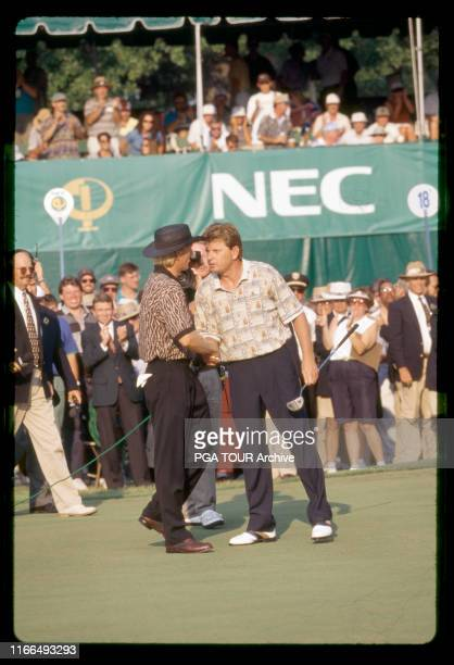 Greg Norman, Nick Price 1995 NEC World Series of Golf - August Photo by Sam Greenwood/PGA TOUR Archive via Getty Images