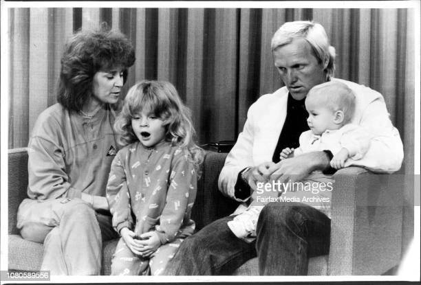 Greg Norman with his family October 07 1986