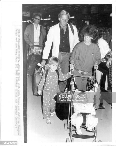Greg Norman with wife Laura and children MorganLeigh and son Greg Jnr October 07 1986