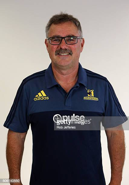 Greg O'Brien High Performance Manager of the Highlanders poses for a portrait on January 22 2016 in Dunedin New Zealand