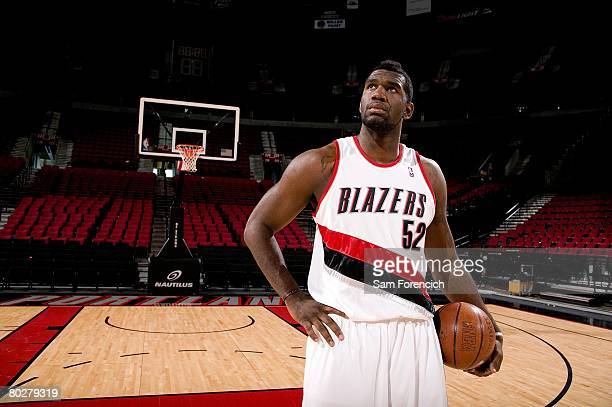 Greg Oden of the Portland Trail Blazers poses during a photo shoot at the Rose Garden Arena in Portland Oregon NOTE TO USER User expressly...