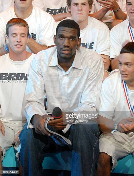 Greg Oden with Fans during Greg Oden Visits MTV's TRL June 26 2007 at MTV STUDIOS in New York City New York United States