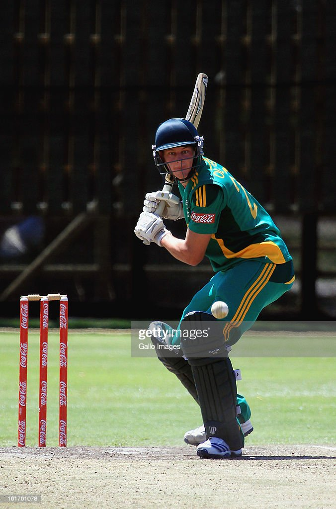 Greg Oldfield of South Africa during the 2nd U/19 Youth One Day International match between South Africa and England at Bellville Cricket Club on February 15, 2013 in Cape Town, South Africa.
