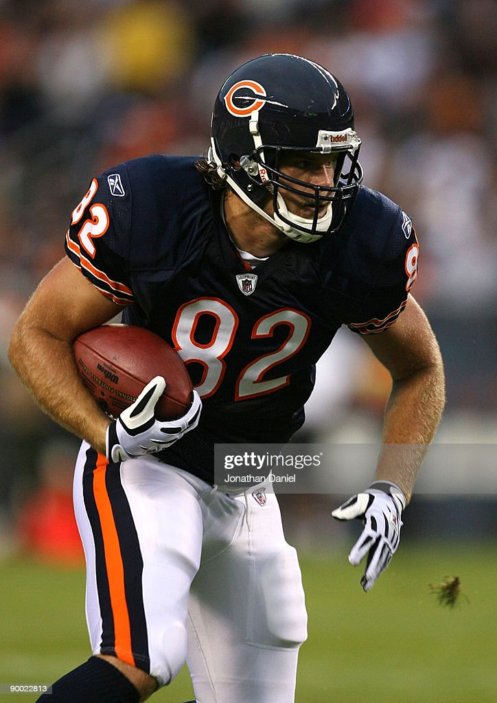 greg olsen of the chicago bears runs for yards after the catch on a