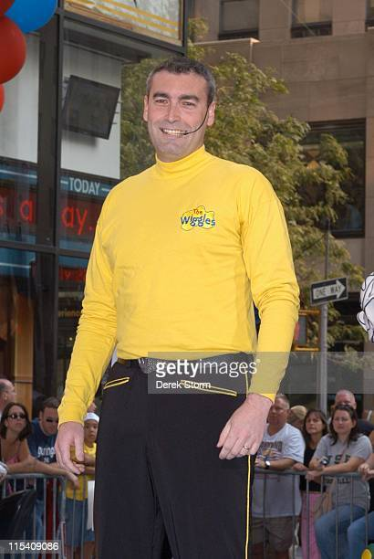 Greg Page of The Wiggles during Dermot Mulroney Tiki Barber and The Wiggles Visit the Today Show July 27 2005 at The Today Show Studios in New York...