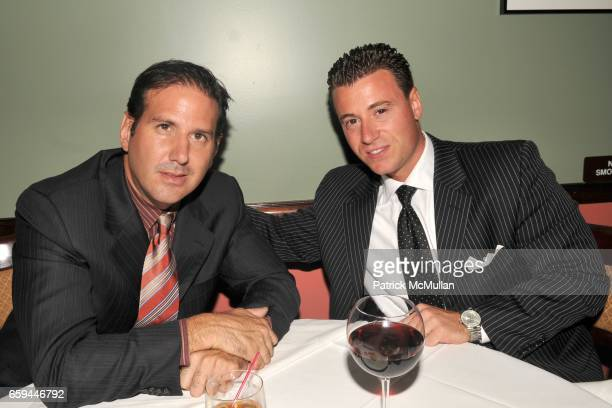 Greg Pass and Tom McArdle attend RON GALELLA Book Party for 'VIVA L'ITALIA' Hosted by PATRICK MCMULLAN at Pasta Bar at Ancora on September 22 2009 in...