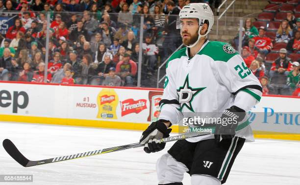 Greg Pateryn of the Dallas Stars in action against the New Jersey Devils on March 26 2017 at Prudential Center in Newark New Jersey The Stars...