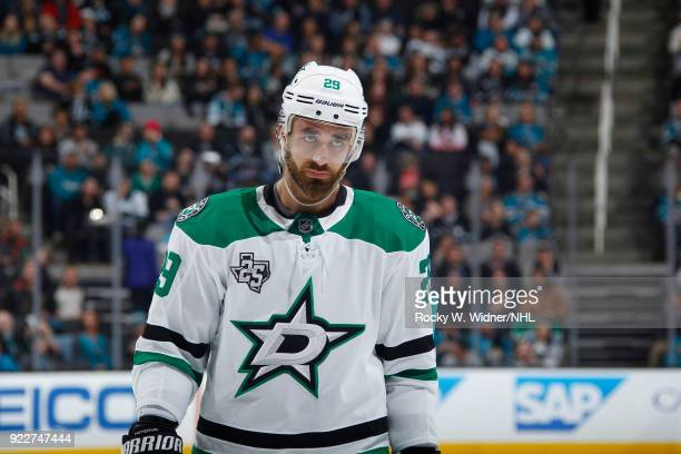 Greg Pateryn of the Dallas Stars looks on during the game against the San Jose Sharks at SAP Center on February 18 2018 in San Jose California