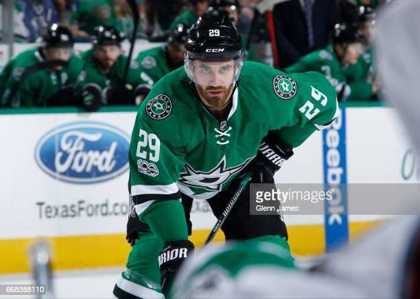 Greg Pateryn of the Dallas Stars skates against the Colorado Avalanche at the American Airlines Center on April 8 2017 in Dallas Texas