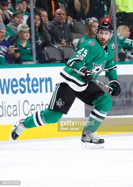 Greg Pateryn of the Dallas Stars skates against the New York Islanders at the American Airlines Center on March 3 2017 in Dallas Texas