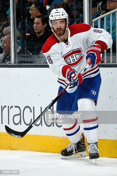 Greg Pateryn of the Montreal Canadiens looks during a NHL game against the San Jose Sharks at SAP Center at San Jose on December 2 2016 in San Jose...
