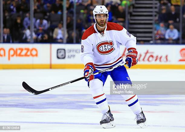Greg Pateryn of the Montreal Canadiens skates during an NHL preseason game against the Toronto Maple Leafs at Air Canada Centre on October 2 2016 in...