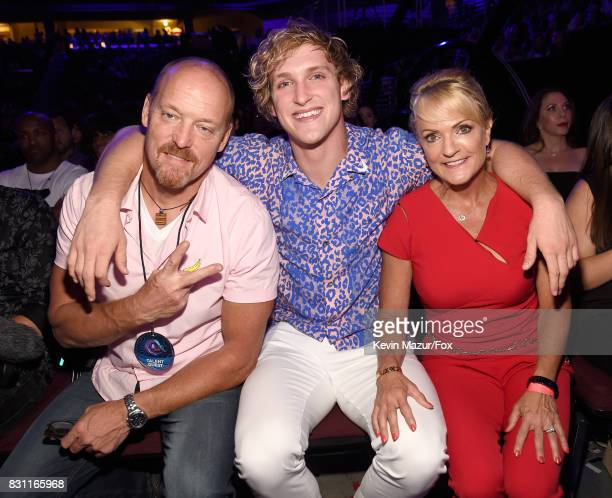 Greg Paul Logan Paul and Pam Stepnick attend Teen Choice Awards 2017 at Galen Center on August 13 2017 in Los Angeles California