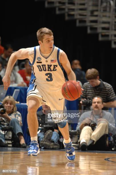 Greg Paulus of the Duke Blue Devils dribbles the ball during a NCAA Men's Basketball first round game against the Belmont Bruins at Verizon Center on...