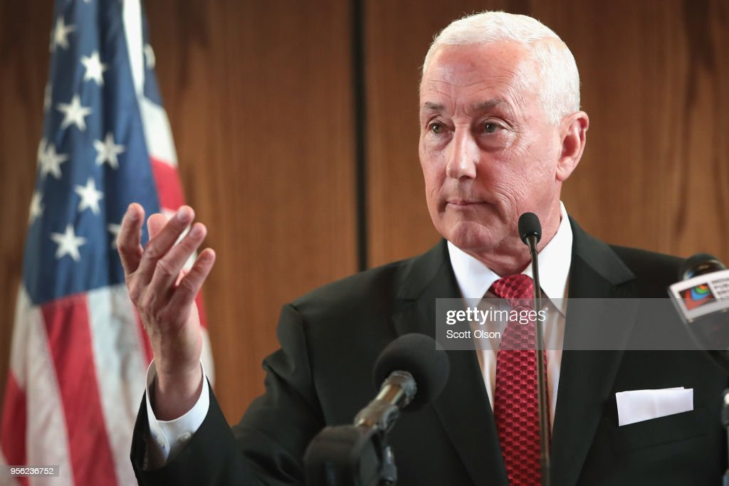 Brother Of Vice President Pence, Congressional Candidate Greg Pence Holds Primary Night Event In Columbus, Indiana : News Photo