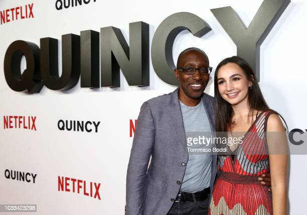 Greg Phillinganes and Emily Bear attend Netflix's Quincy Los Angeles Special Screening at Linwood Dunn Theater on September 14 2018 in Los Angeles...