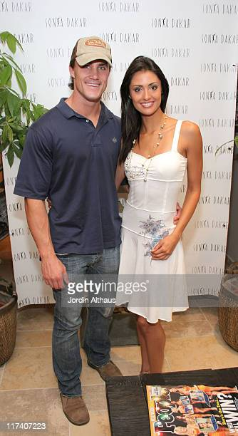 Greg Plitt and Katie Cleary during Sonya Dakar Emmy Suites at Sonya Dakar in Beverly Hills California United States