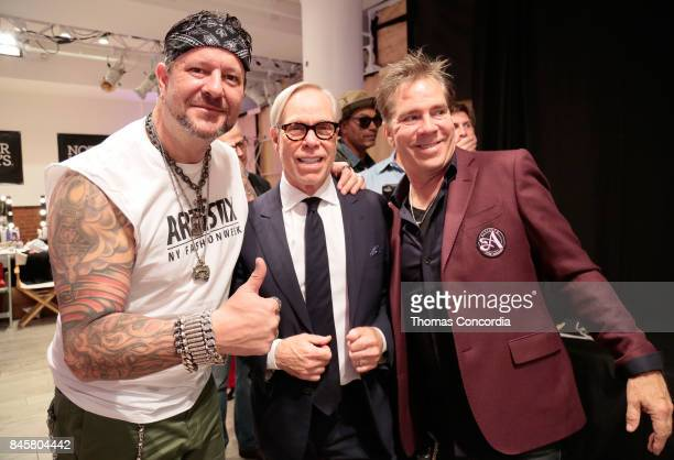 Greg Polisseni Tommy Hilfiger and Andy Hilfiger backstage at Kia STYLE360 Hosts Andy Hilfiger Presents ARTISTIX By Greg Polisseni S/S '18 at...