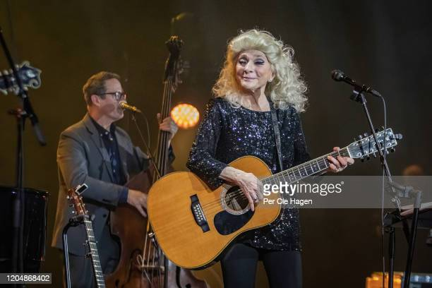 Greg Readling and Judy Collins perform Winter Stories with Jonas Fjeld and the Chatham County Line on stage at The National Opera House in Oslo Norway