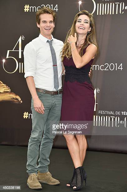 Greg Rikaart and Amelia Heinle attend a photocall at Grimaldi forum on June 9 2014 in MonteCarlo Monaco