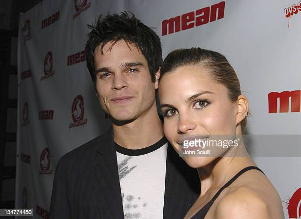Greg Rikaart and Ashley Bashioum during Mean Magazine Celebrates Their April/May Issue at Nacional in Los Angeles California United States